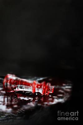 Chess Piece Lying In Blood Art Print by Stephanie Frey