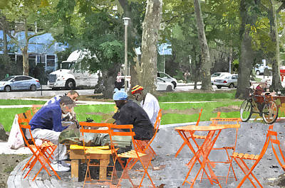 Chess Players In Clark Park Art Print