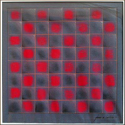 Pastel - Chessboard 1982 by Glenn Bautista
