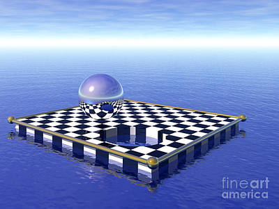 Digital Art - Chessboard by Nicholas Burningham