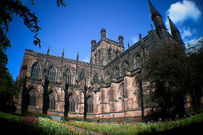 Chester Photograph - Chester Cathedral Fisheyed by Stephen Douglas