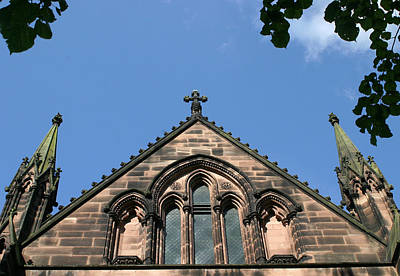 Cathedral Photograph - Chester Cathedral Tower by Stephen Douglas