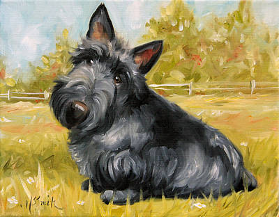 Scottish Dog Painting - Chester by Mary Sparrow