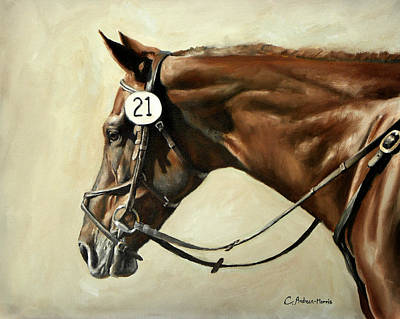 Sporting Event Painting - Chestnut by Carole Andreen-Harris