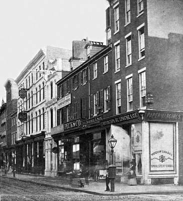 Chestnut Street - South Side Of Philadelphia - C 1870 Art Print by International  Images
