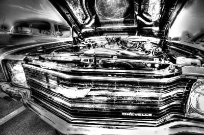 Photograph - Chevelle - Black And White by David Morefield