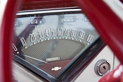 Photograph - Chevrolet 3100 Truck Speedometer by Glenn Gordon