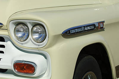Fleetline Emblem Photograph - Chevrolet Apache 31 Fleetline Headlight Emblem by Jill Reger