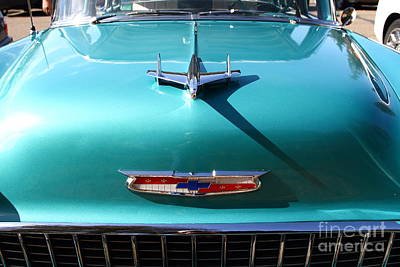 Domestic Cars Photograph - Chevrolet Bel-air . Blue . 7d12850 by Wingsdomain Art and Photography