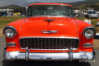 Chevrolet Bel-air Stationwagon . Orange . 7d15270 Art Print by Wingsdomain Art and Photography