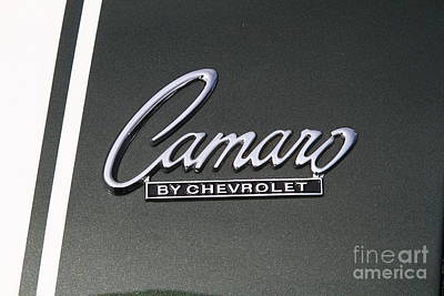 Photograph - Chevrolet Chevy Camaro Emblem 7d15197 by Wingsdomain Art and Photography