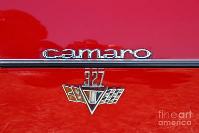 Photograph - Chevrolet Chevy Camaro Rs 327 Emblem 7d15530 by Wingsdomain Art and Photography