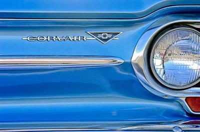 Photograph - Chevrolet Corvair Emblem by Jill Reger