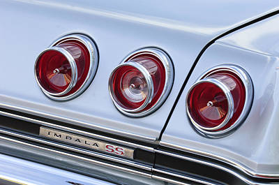 Photograph - Chevrolet Impala Ss Taillight by Jill Reger
