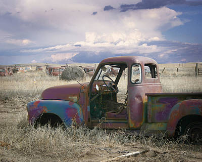Photograph - Chevy 3100 by Andrea Kelley