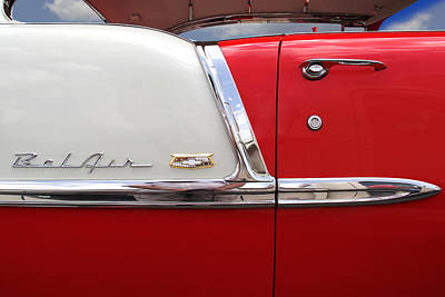 1955 Chevy Photograph - Chevy Belair Classic Trim by Mike McGlothlen