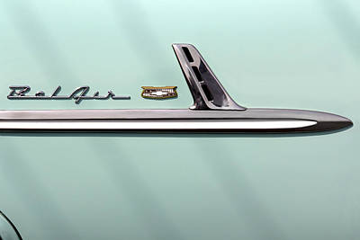 Chevy Belair Photograph - Chevy Belair Trim - 4 Door by Mike McGlothlen