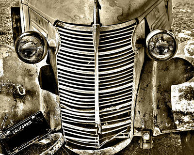 Photograph - Chevy Grill Work by William Havle