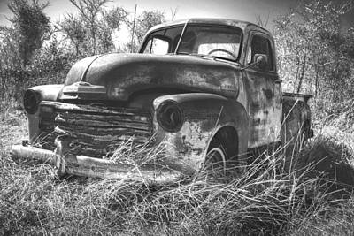 Chevy In A Field Art Print by Paul Huchton