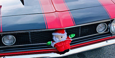 Photograph - Chevy S S Santa by Bill Owen