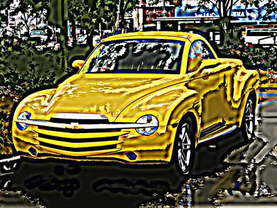 Chevy Ssr Pickup Art Print by Samuel Sheats