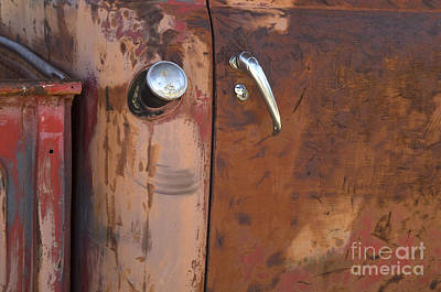 Chevy Truck Door Handle Detail Print by Bob Christopher