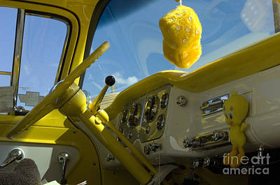 Chevy Truck Interior Print by Bob Christopher