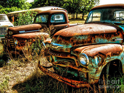 Chevy Vs. Ford Art Print by Joe Finney