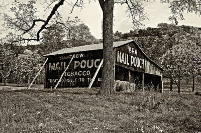 Fall Photograph - Chew Mail Pouch Sepia by Steve Harrington