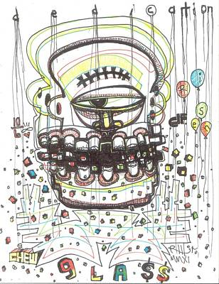 Abstract Expressionism Drawing - Chew by Robert Wolverton Jr