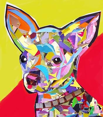 Chewy Art Print by Julie Hiskett