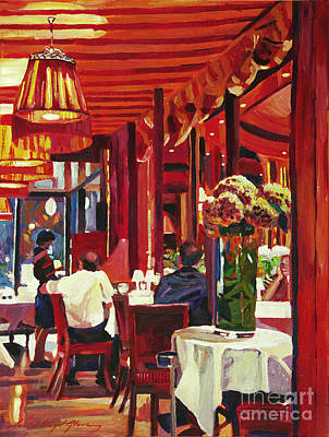 Bistro Painting - Chez Parisian by David Lloyd Glover