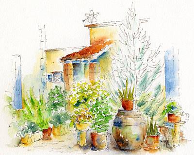 Painting - Chez Pauline by Pat Katz