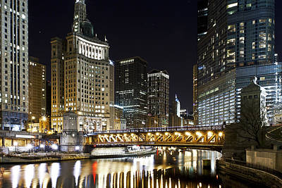 Whimsical Flowers Royalty Free Images - Chi-town by Night Royalty-Free Image by CJ Schmit
