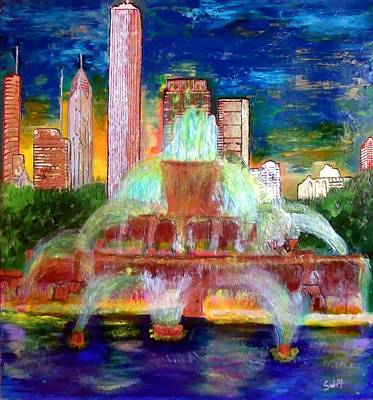 Chicacgo Buckingham Fountain Art Print by Char Swift