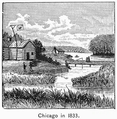 1833 Photograph - Chicago, 1833 by Granger