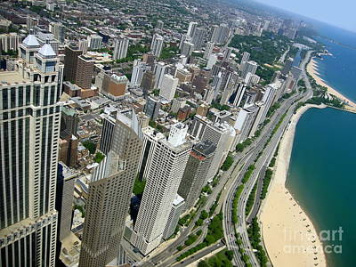 Chicago Aerial View Art Print by Sophie Vigneault