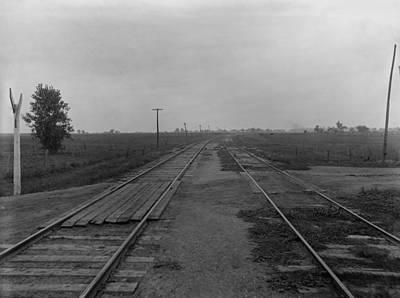 Telephone Poles Photograph - Chicago And Alton Railroad Crossing by Everett
