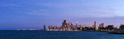 Sky Line Photograph - Chicago At Dusk by Twenty Two North Photography
