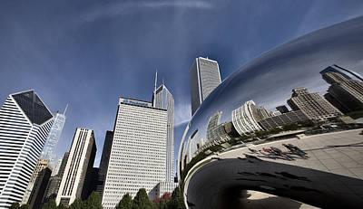 Lake Michigan Digital Art - Chicago Cityscape The Bean by Mark Duffy