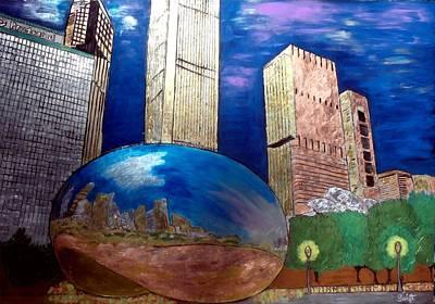 Chicago Cloud Gate At Millennium Park Original by Char Swift