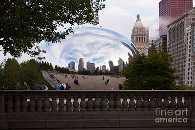 The Bean Photograph - Chicago Cloud Gate Bean Sculpture by Paul Velgos
