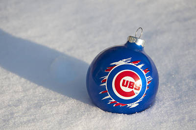 Photograph - Chicago Cubs Ornament by Glenn Gordon