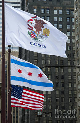Chicago Flags Art Print by Ann Horn