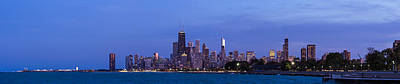 Sky Line Photograph - Chicago Illinois Panorama by Twenty Two North Photography