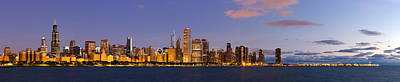 Sky Line Photograph - Chicago Illinois Skyline At Dawn by Twenty Two North Photography