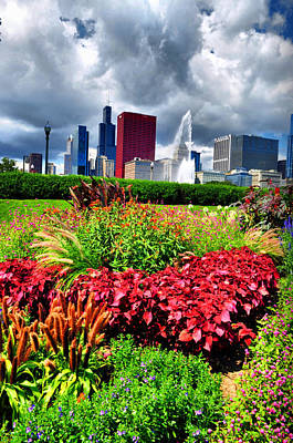 Photograph - Chicago In Flowers by Emily Stauring