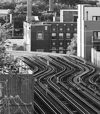 Photograph - Chicago L Tracks by Bruce Bley
