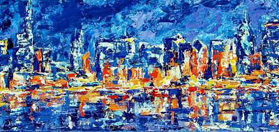 Painting - Chicago Lake Front by Kat Griffin