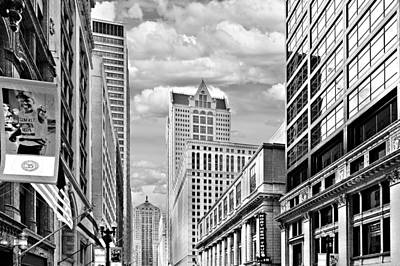 Black Photograph - Chicago Lasalle Street by Christine Till